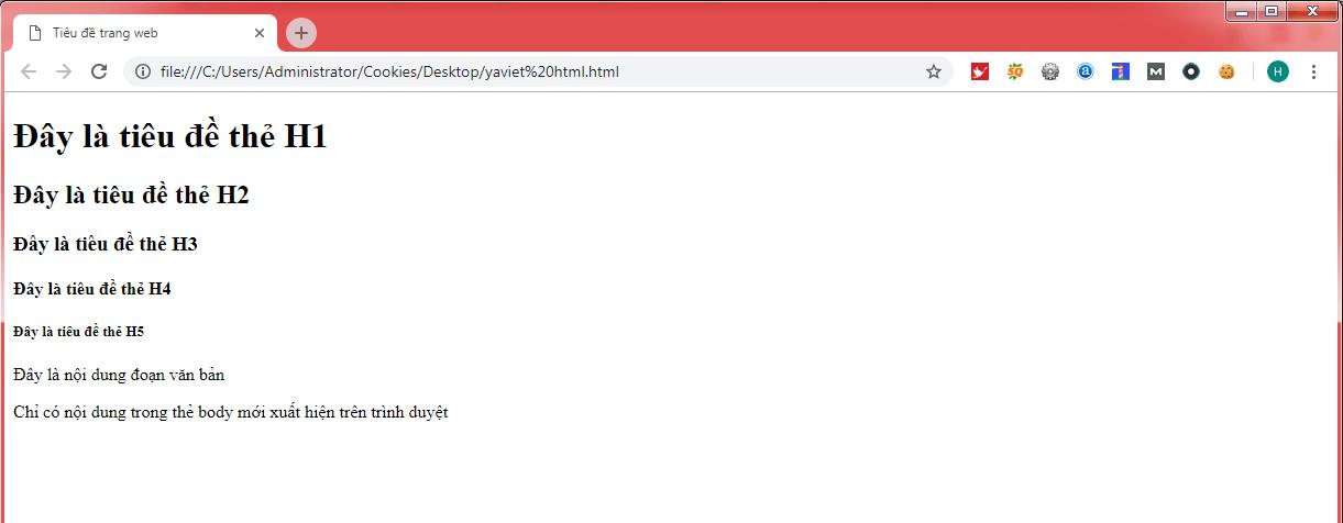 html la gi yaviet
