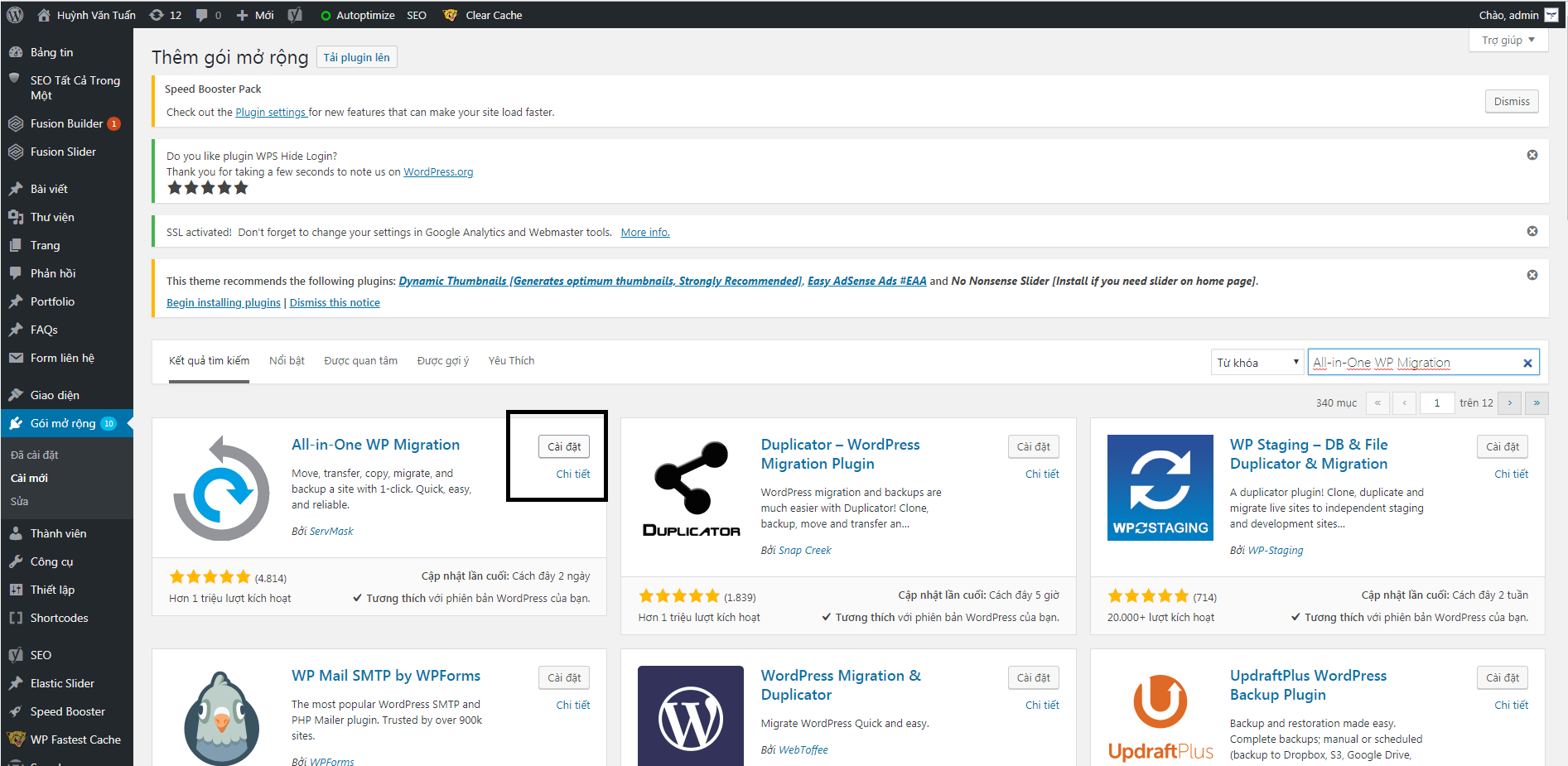 backup chuyen web yaviet